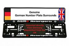 NISSAN NISMO NUMBER PLATE SURROUNDS x2 350Z 200SX 300SX