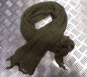 Genuine Military Issue Green Scrim Net  Face Veil OD Cadets Sniper SAS Para Army