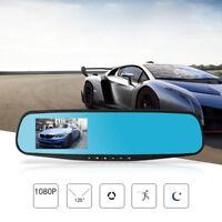 1080P HD Car Dash Camera Dual Cam Vehicle DVR Len Video Recorder Rearview Mirror