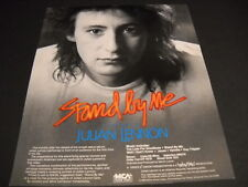 JULIAN LENNON a video portrait of the artist with STAND BE ME 1985 PROMO AD mint
