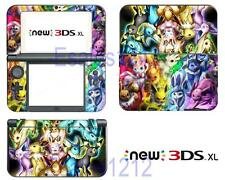 Pokemon Eeveelution Vinyl Decals Skin Sticker Cover for Nintendo New 3DS XL 2015