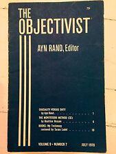 Ayn Rand THE OBJECTIVIST Vol 9 No 7 July 1970
