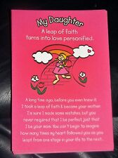 """Blue Mountain Arts Greeting Card """"My Daughter, A Leap of Faith"""" B2GO SALE"""