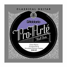 D'Addario Clear Nylon w/ Composite G Classical Guitar Half Set, Extra Hard