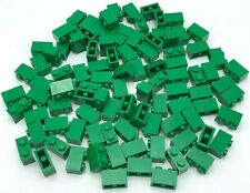 LEGO LOT OF GREEN 1 X 2 STUD BUILDING BLOCKS PIECES