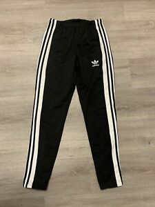 Adidas Black Popper Side Button Tear Away Joggers Track Trousers. Size XS