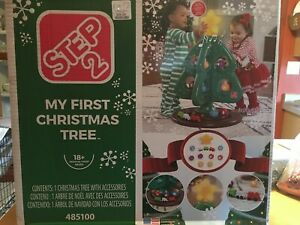 Step 2 My First Christmas Tree  - Train Ornaments Preschool Pretend Play Toy New