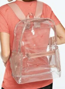 Victoria's Secret PINK clear/pink Backpack NEW