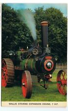 Postcard traction engine Wallis Stevens Expansion engine 7hp