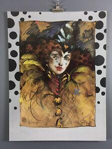 "Ramon Santiago, ""Wizard"" Art Print 1997, Rochester, NY...Excellent Condition"