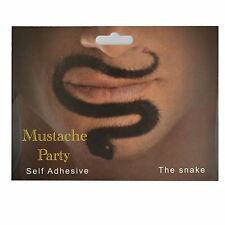 Snake Shaped Fake Moustache/Mustache Self Adhesive Fancy Dress Accessories