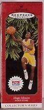 Hallmark Keepsake Ornament Magic Johnson Hoop Stars w/ Fleer Skybox Trading Card