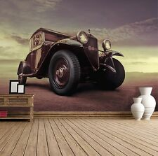 Wall mural wallpaper - For bedroom and living room room - Vintage style car