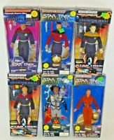 (6) Playmates Star Trek Collector's Series Action Figures Sisko Nerys Riker Auc2