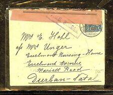 TRANSVAAL (P0210B) MOZAMBIQUE TO NATTAL BOEW WAR CENSOR COVER