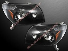 Pair Black Housing Headlights for 2003-2005 Toyota 4Runner Made by Eagle Eyes