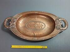Ancien plat ovale creux en cuivre coupe à fruits style art déco old dish