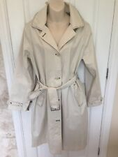 SEASALT TIN CLOTH WEATHER RESISTANT MAC IN CREAM SZ 16 VERY LITTLE WEAR
