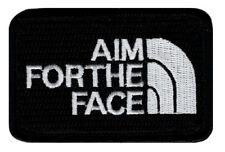 Aim for the Face Embroidered Morale Hook Fastener patch (3.0 x 2.0 MTA1)