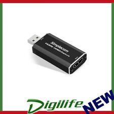 Simplecom DA315 HDMI to USB 2.0 Video Capture Card Full HD 1080p for Live