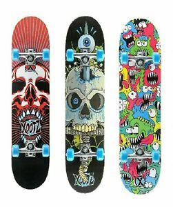 "Xootz 31"" Inch Skateboard Kids Double Kick Trick Board Girls Boys Beginners Toy"