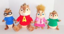 Build a Bear Alvin and the Chipmunks Plush Lot Set The Squeakquel Simon Theodore