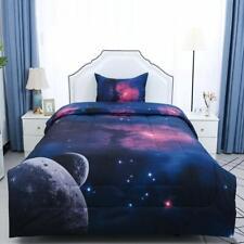 Galaxies Fuchsia Comforter Sets - 3D Space Themed - All-Season Down Alternative