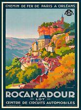 Rocamadour France French European Europe Vintage Travel Advertisement Art Poster
