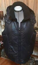 Ladies  Black Vest With Hood Size Large L