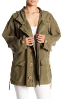Free People Womens Joshua OB781981 Jacket Relaxed Olive Green Size XS