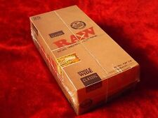 25 RAW CLASSIC 1 1/2 Size Wide Natural Unrefined Rolling Papers VEGAN FULL BOX