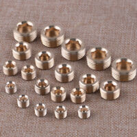 "20Pcs Brass 1/8"" 1/4"" 3/8"" 1/2"" NPT Brass Internal Hex Thread Socket Pipe Plug"