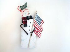 Midwest Cannon Falls Snowman Holding Usa Flag Ornament New with tag
