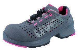 UVEX 1 Ladies 8561.8 S1 SRC Damen Sicherheitsschuhe Halbschuhe grau pink