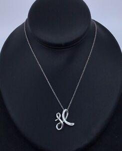 Tiffany & Co Sterling Silver Alphabet Letter X Peretti Pendant Necklace