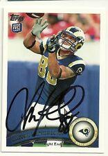 2011 Topps Lance Kendricks Signed Card Lambeau Field Rams Packers Badgers