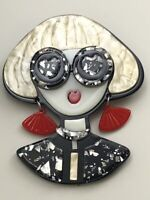 Unique Lady Large Pin Brooch In acrylic