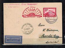 Briefmarken Deutsches Reich456 auf Karte Polarfahrt 1931 int.Nr. 1582