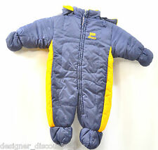 BOYS U.S. POLO USPA NAVY Reversible Yellow Snow Suit snow winter hood 6 - 9 M