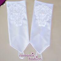 ♥Fingerlose Handschuhe in Weiß oder Creme+passt immer+NEU+SOFORT+PL9107♥
