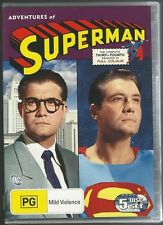 ADVENTURES OF SUPERMAN ORIGINAL SEASONS 3 + 4 GEORGE REEVES NEW 5 COLOUR DVD SET