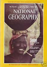 National Geographic March 1982 Sudan Arab Peru Santa Fe Hudson Bay Quebec Hydro