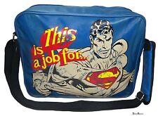 DC COMICS SUPERMAN THIS IS A JOB RETRO MESSENGER BAG / TRAVEL / SCHOOL / UNI BAG