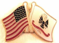 6 PINS - USA United States ARMY USA FLAG Lapel Pin Lot!