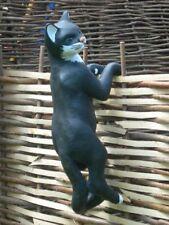 Figur Katze kletternd H 65 cm Tierfigur für Garten und Innenbereic aus Kunstharz