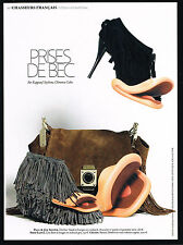 PUBLICITE ADVERTISING 2009   PAUL & JOE sister  chaussures PRISE DE BEC  KAPPAUF