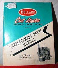 Bullard Cut Master VTL Manual (Ijv.16438)