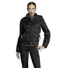 $703 ROBERTO CAVALLI JUST CAVALLI Size 40 S Black Hooded Down Puffer Jacket Coat
