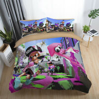 3D Splatoon Game Kids Bedding Set Quilt Cover Duvet/Comforter Cover Pillowcase