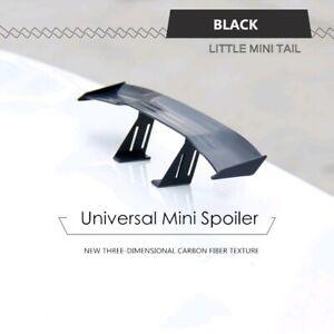 Black Universal Mini Spoiler Car Auto Tail Decoration Spoiler Wing Carbon Fiber